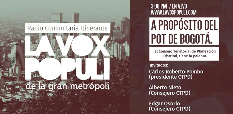 A Propósito del POT de Bogotá
