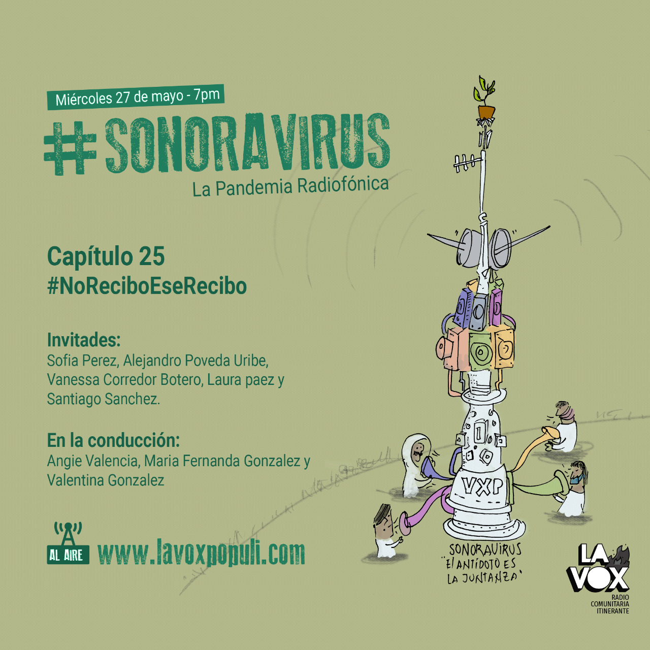 #SONORAVIRUS - La Pandemia Radiofónica. Capítulo 25: #NoReciboEseRecibo 😷